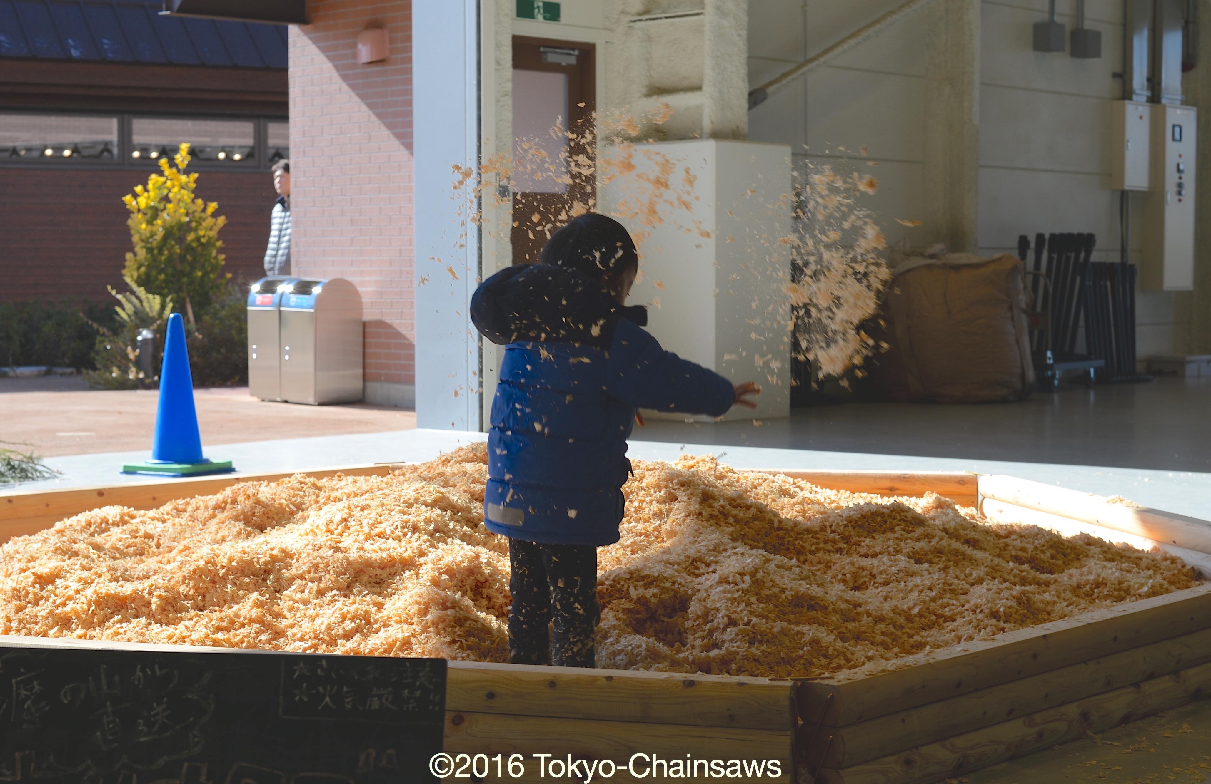 """「水飛沫」ならぬ""""かんな""""の飛沫(2月6日)"""